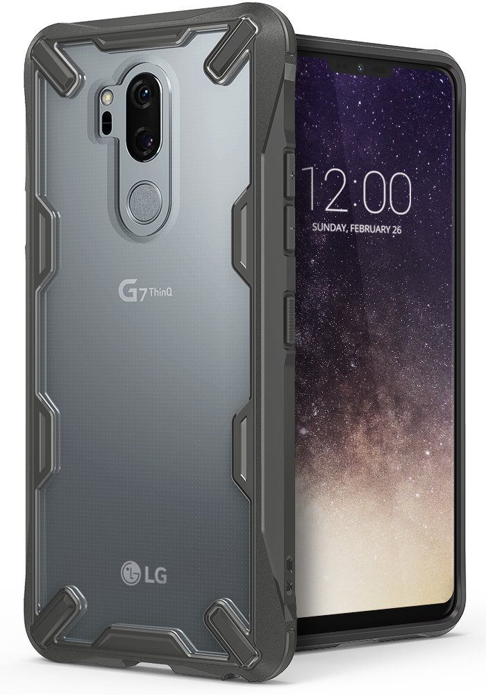 LG G7/G7 ThinQ Case, Ringke [Fusion-X] Ergonomic Transparent [Military Drop Tested Defense] PC Back TPU Bumper Impact Resistant Protection Shock Absorption Technology Cover for LG G7 (2018) – Black RK-FX-G7-BLK