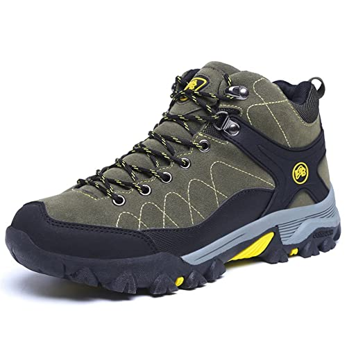 MSKAY MEN SHOES Botas de Senderismo para Hombre Zapatillas de Montaña para Hombre Zapatillas de Senderismo de Cuero: Amazon.es: Zapatos y complementos