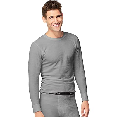 Hanes Mens Organic Cotton Thermal Crew (14500) at Amazon Men's Clothing store
