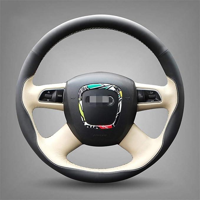 ZYTB F/ür Schwarze///Auto-Lenkradabdeckung f/ür Audi altes A4 B7 B8 A6 C6 2004-2011 Q5 2008-2012 Q7 2005-2011