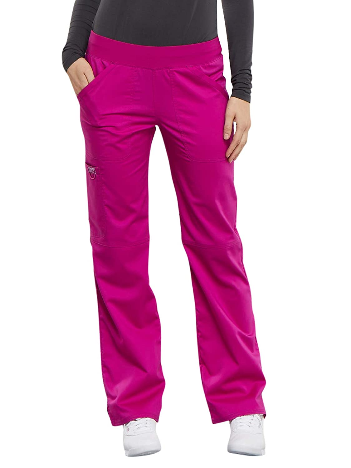 Cherokee Workwear Revolution Women's Mid Rise Straight Leg Pull On Scrub Pant