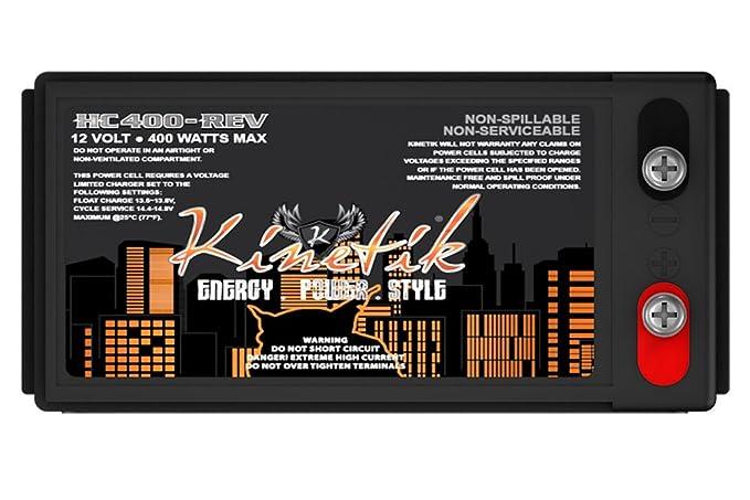 Kinetik HC400-REV 400 Watt 12V AGM High Current Car Audio Power Cell Battery