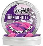 【 温めると色の変化!のある シリコン製パティ 】 Crazy Aaron's Putty World シンキングパティ ハイパーカラー シリーズ EU安全規格適合 内容量90g レギュラーサイズ Made in USA 日本正規代理店品 【 アメジスト ブラッシュ 】 AB020