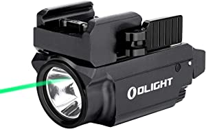 OLIGHT Baldr Mini 600 Lumens Magnetic USB Rechargeable Weaponlight with Green Beam and White LED Combo, Compact Rail Mount Tactical Flashlight with Adjustable Rail