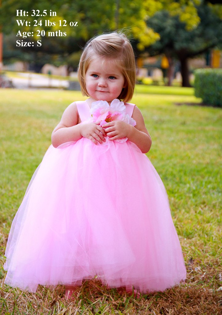 White flower girl dresses size 2t is for what age