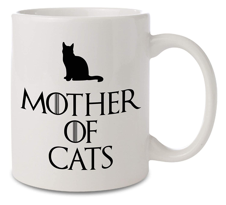 Taza de cerámica inspirada en Juego de Tronos de Madre de Gatos, color blanco, 11 onzas: Amazon.es: Hogar