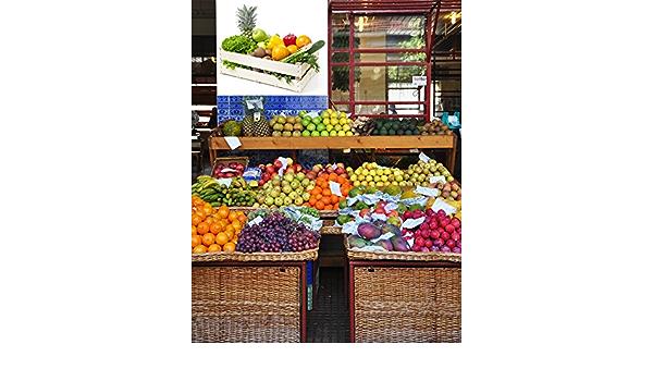 Oedim Vinilo Decorativo Pared 3D Fruteria | Caja Madera Frutas y Verduras | 115x80cm | Adhesivo Resistente y de Facil Aplicación | Diseño Elegante | Decoración Puestos de Venta |: Amazon.es: Hogar