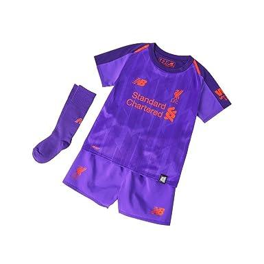 7b25508e7 Liverpool FC 18 19 Away Mini Kids Football Kit - DV  Amazon.co.uk  Sports    Outdoors