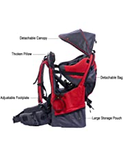 Child Carrier, XTELARY Baby Toddler Hiking Backpack Carrier with Rain cover Child Kid Sun canopy Shield, Holds up to 50 Pound