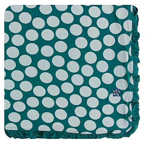 Kickee Pants Print Ruffle Toddler Blanket - Ivy Mod Dot