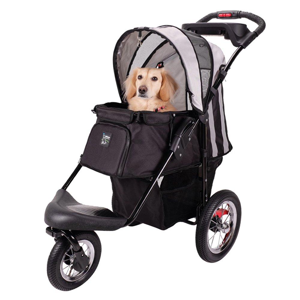 ibiyaya Sturdy Dog Stroller, Cat Stroller for Heavy Everyday Use, Air Filled Tires with Suspensions by ibiyaya