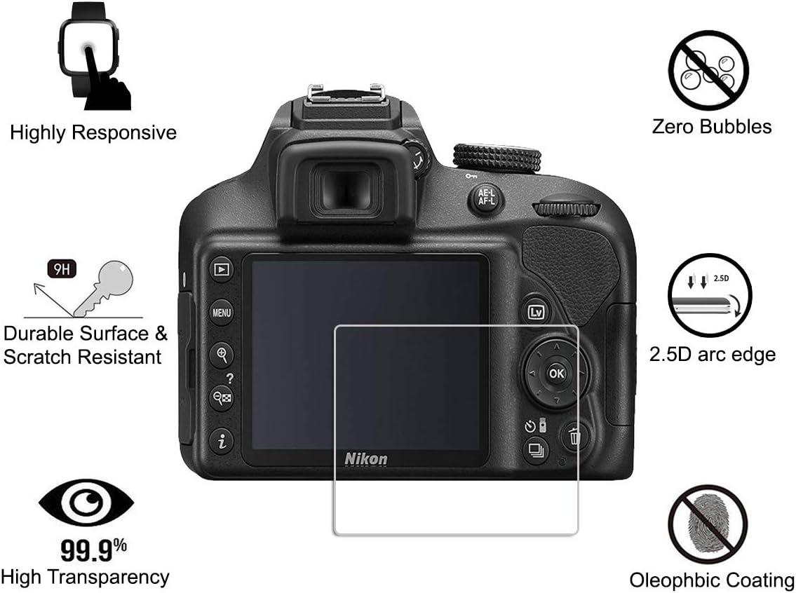 4 Piezas) OOTSR Protector de Pantalla para Nikon D3400 D3300 D3200 ...