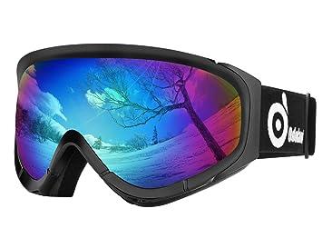 07cddcfa3a35b1 Odoland Lunettes de Ski Masque de Snowboard pour Homme   Femme Anti-UV404,  Anti