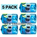 Fujifilm Quick Snap Waterproof 35mm Fuji Disposable / Single Use Underwater Camera (5 Pack) from FUJIFILM