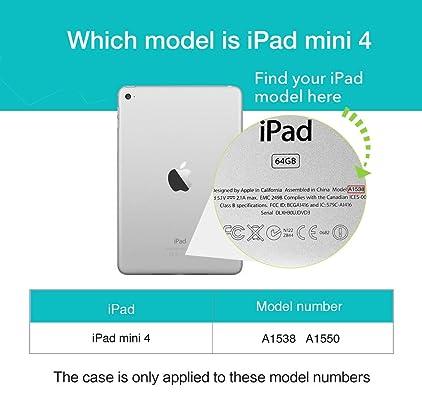 Amazon.com: ESR IPad Mini 4 Case, Smart Case Cover [Synthetic ...