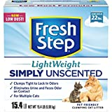 Fresh Step Lightweight Multi-Cat - Clumping Cat Litter - Unscented - 15.4 Pounds