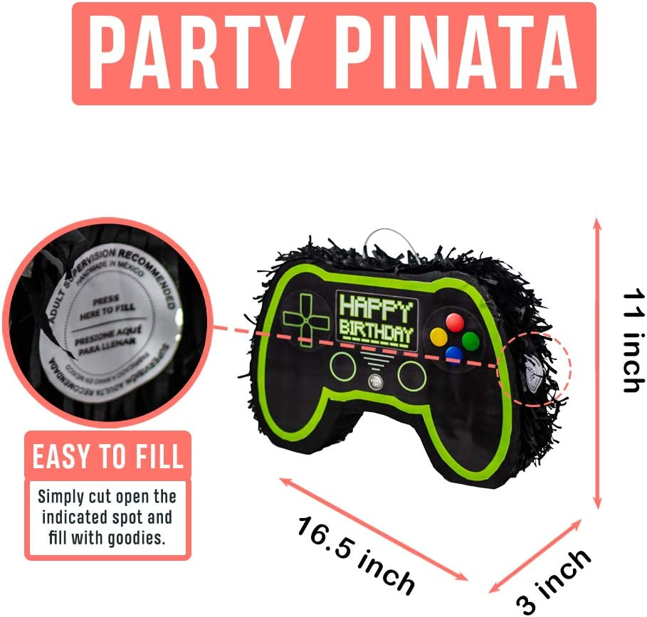Video Game Controller Pinata Perfect as Gamer Party Decorations or Live Streaming