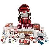 Guardian Survival Multi-Pocket Hiker's Elite Emergency Kit, 1 Person, Red Backpack