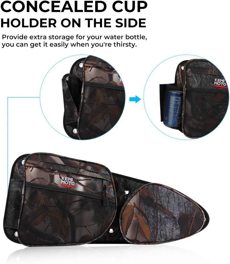 KEMiMOTO UTV Front Door Side Storage Bag Set with Knee Pad for 2014 2015 2016 2017 2018 2019 Polaris RZR XP Turbo Turbo S 1000 S900 RZR Side Door Bags Camo