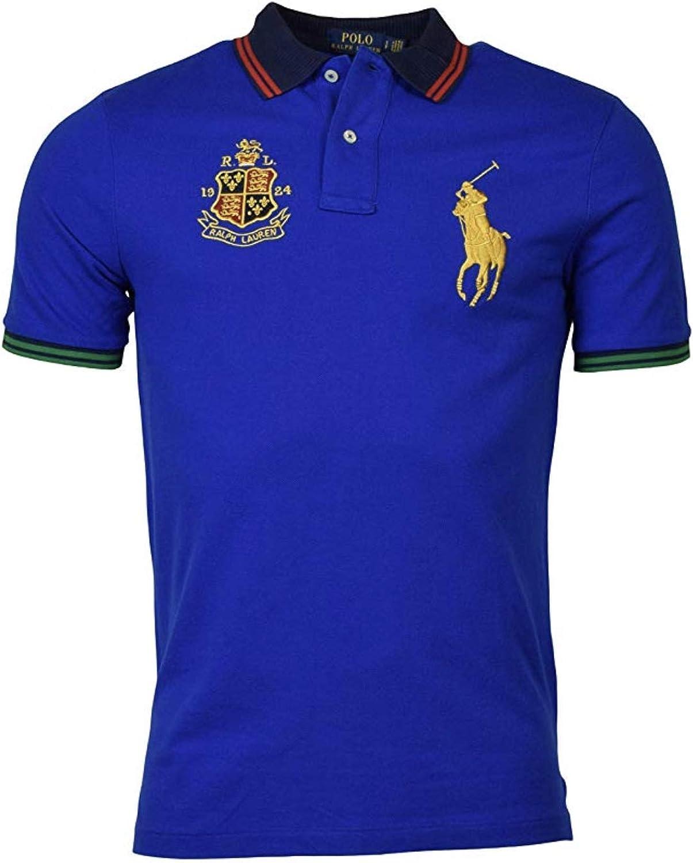 Polo Ralph Lauren Men's Classic-Fit Crest Logo Big Pony Polo Shirt Large - Blue