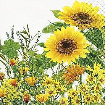 Avancarte Gmbh Geburtstag Servietten Hochwertig Natur Sonnenblume 20