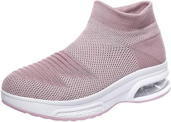 AG&T Zapatos Deporte Mujer Zapatillas Deportivas Correr Gimnasio Casual Zapatos para Caminar Mesh Running Transpirable Aumentar Más Altos Sneakers: Amazon.es: Deportes y aire libre