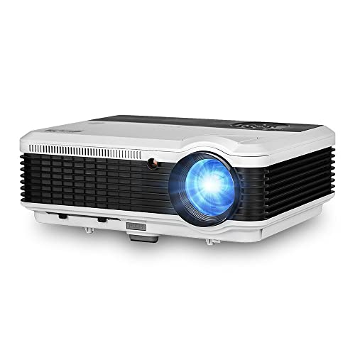 EUG Wireless Projector HD 1080P 3600 Lumen Video Projectors Outdoor Movie Android System,Airplay Miracast Wifi USB HDMI LED LCD Multimedia Projeyector for Home Theater Game Consoles Apps PC DVD