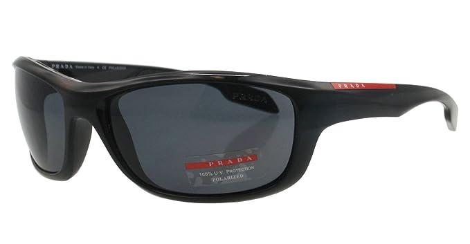 aa194657093 Prada Sunglasses SPS 04N BLACK 1AB-5Z1 SPS04N POLARIZED  Amazon.co.uk   Clothing