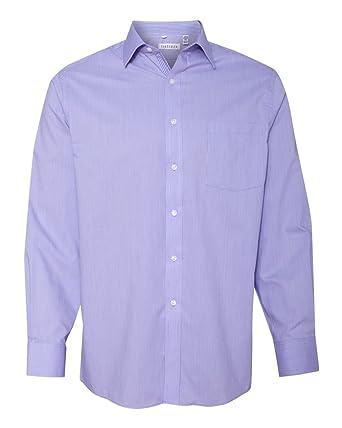 0d660762 Van Heusen Men's Pleated Back Button Down Shirt at Amazon Men's Clothing  store: