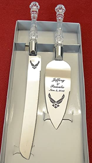 Amazoncom Military Air Force Engraved Wedding Cake Knife