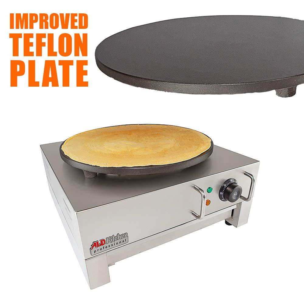 ALDKitchen Electric Crepe Machine Griddle, Commercial Electric Plate Crepe Machine Snack Machine Electric Hot Plate (Single) by ALDKitchen (Image #2)