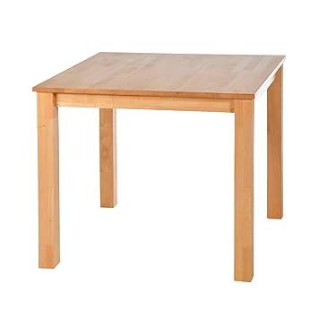 acerto 20120 Mesa de comedor de haya maciza 90 x 90 cm * Aceite de ...