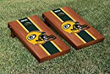 NFL Green Bay Packers Rosewood Stained Stripe Version Football Cornhole Game Set, 24'' x 48'', Multicolor
