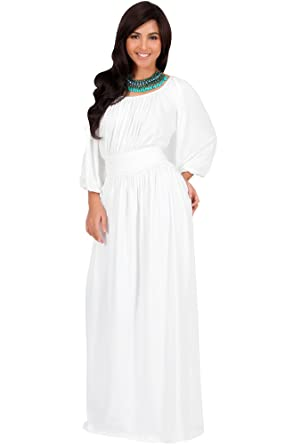 7bd00819c9e2 Koh Koh Petite Womens Long Sleeve Sleeves Vintage Peasant Empire Waist Fall  Loose Flowy Fall Winter