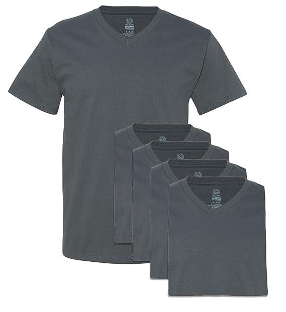 8c669b17051 Fruit of the Loom Men s V-Neck Tee (Pack of 5) at Amazon Men s Clothing  store  Novelty T Shirts