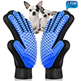 Pet Grooming Glove - Maiphee Gentle Pet Hair Remover Glove - Deshedding Brush Glove - Massage Mitt Tool with Enhanced Five Finger Design - Perfect for Dogs, Cats & Horses with Long & Short Fur -1 Pair