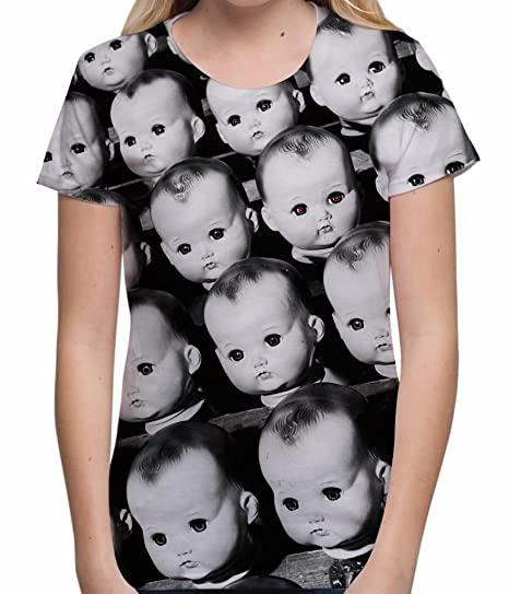 93376000 Amazon.com: Bang Tidy Clothing Halloween T Shirt Scary Shirts Sublimation  Doll Possessed Horror Tees for Women: Clothing