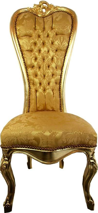 Casa Padrino Barock Thron Stuhl Queen Anne Gold MusterGold