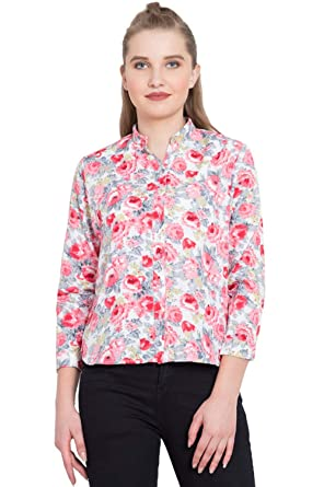 ad69f21fa YoGalz Women Red American Crepe Casual Full Sleeve Shirt. (SKU : 8575):  Amazon.in: Clothing & Accessories