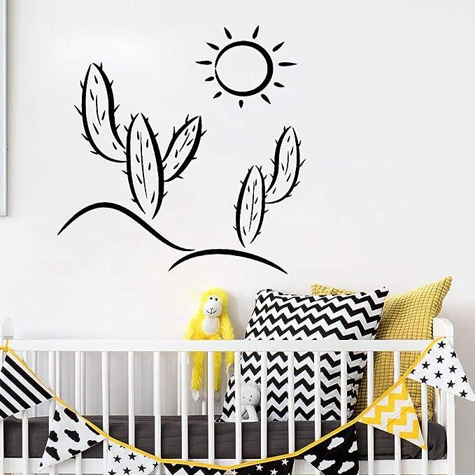 yiyitop Cactus Sun Nursery Tatuajes de Pared Etiqueta de La Pared ...