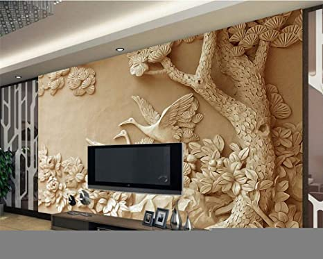 Amazon Com Ai Ya Bihua 3d Wallpaper Stereo Relief Tree Mural Tv Background Wall Living Room Bedroom Background Murals Wallpaper For Walls 3 D Arts Crafts Sewing