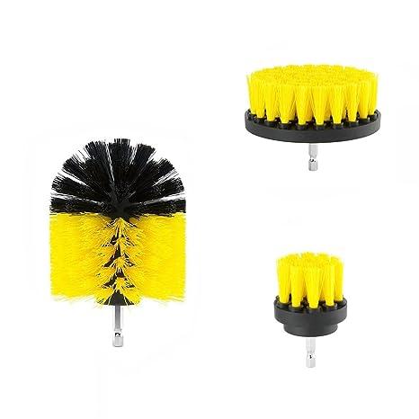 Mallalah Taladro Cepillo 3 pcs Drill Brush Power Scrubber Accesorio para Limpiar duchas, bañeras,