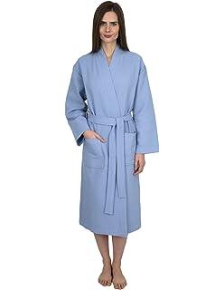 919947c3eb Turquaz Linen Lightweight Long Waffle Kimono Spa Robe for Men 7023