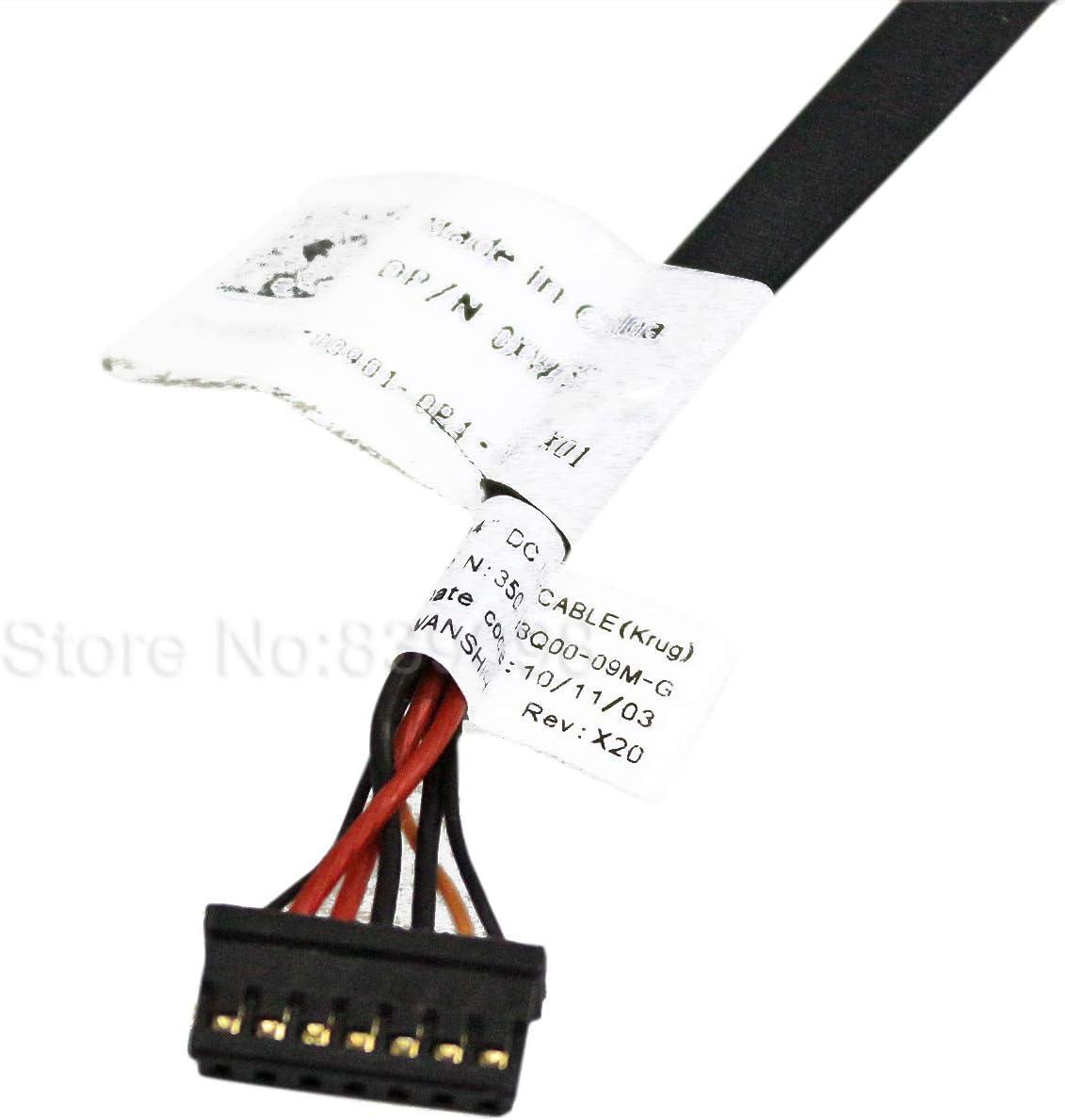 Gintai AC DC Power Jack Socket con arn/és de cable de repuesto para Dell Latitude E5420 E5520 XW85C 0XW85C 350715R00-H 350715R00-H59-G