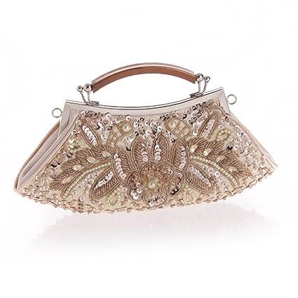 ERGEOB® Femmes Pochette Perle sac de soirée pour sac à main à la main de l'événement B4YRdFNBmM