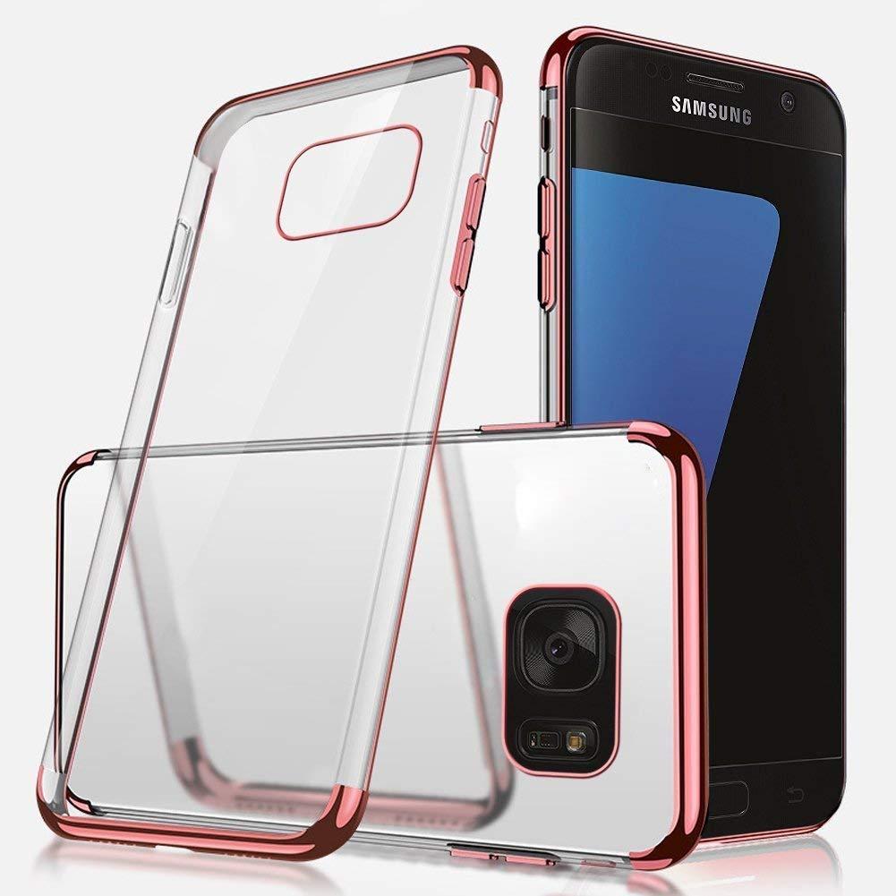 Ukayfe H/ülle Clear Ultrad/ünn Durchsichtige Sto/ßfest Anti-Scratch Bumper Weiche Silikon Plating /Überzug TPU Abdeckung Transparent Case Kompatibel mit Samsung Galaxy S6-Silber+EINWEG