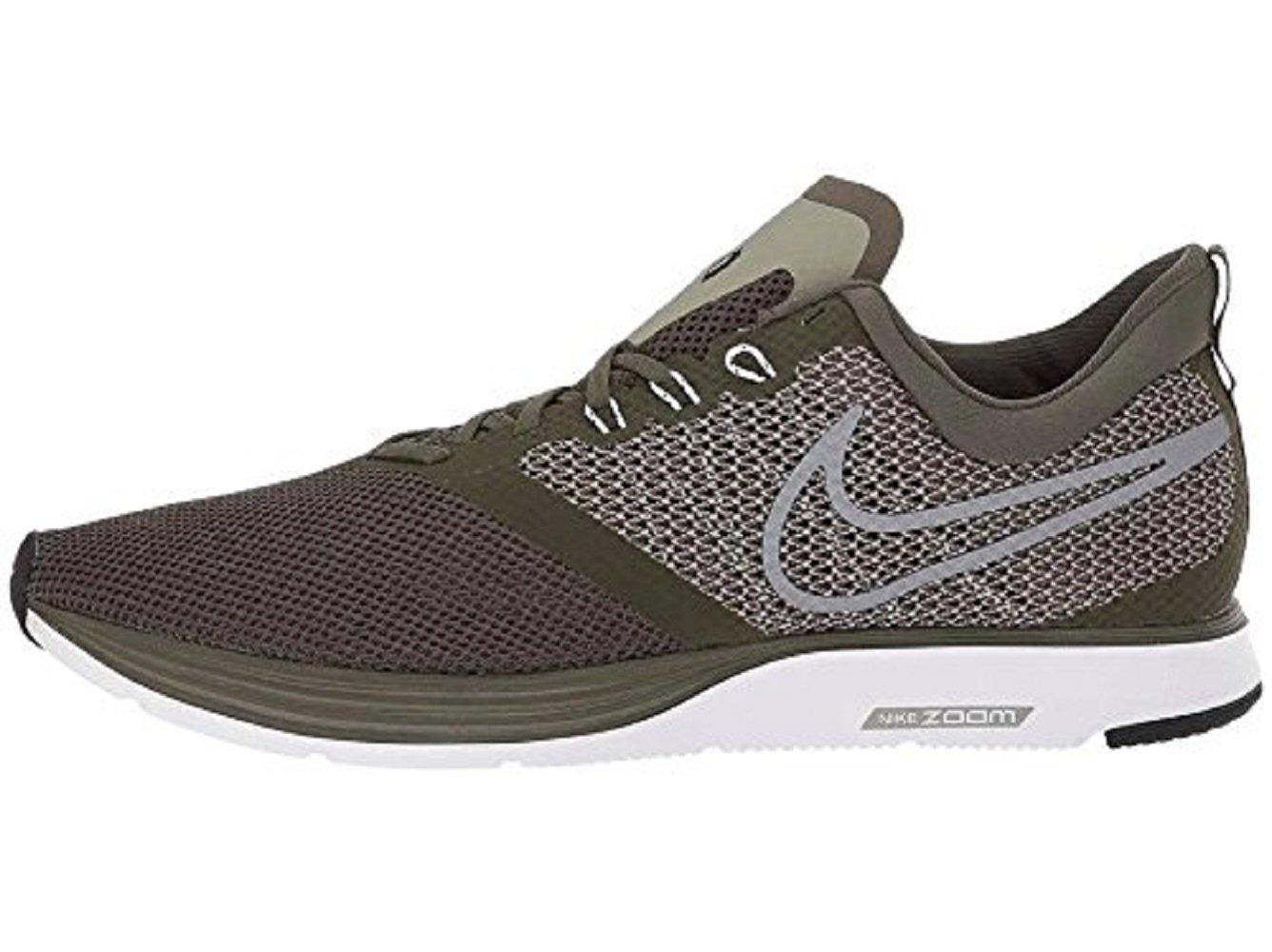 NIKE Women's Zoom Strike Running Shoe B071Z2M644 9.5 D(M) US|Cargo Khaki/Cool Grey