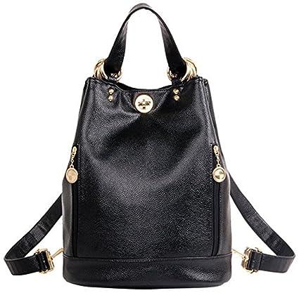 JVP 1004-B) bolso la PU mochila de cuero negro a prueba de ...