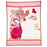 Happy Chic by Jonathan Adler Party Elephant Applique Luxury( Crib Quilted /Comforter Only ) Jungle