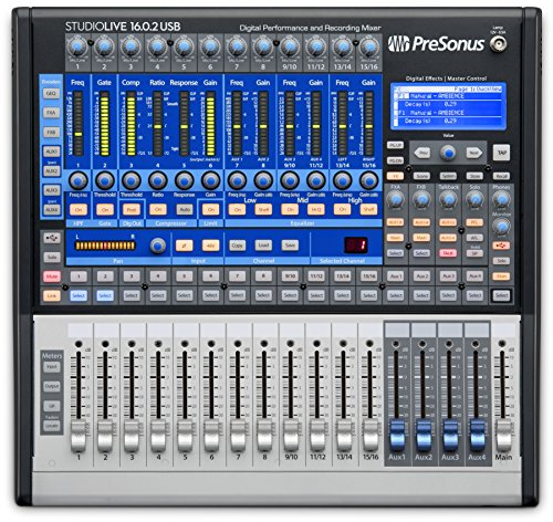 Presonus StudioLive 16.0.2 USB16x2 Performance and Recording Digital Mixer (SL-1602 USB)